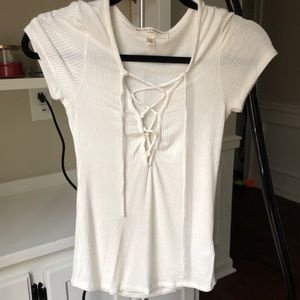 Project social T lace up top